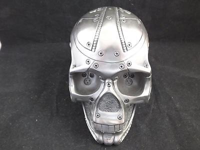 Techno Head Gun Metal Finished Robot Skull by Design Clinic.