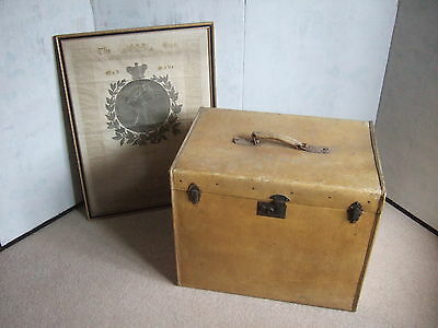 Large Original Pigskin Luggage Trunk Case with Monogram.