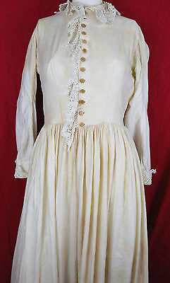 Antique Victorian 1880s ? or Earlier Dress w Lace Prarie Folk Dress Primitive