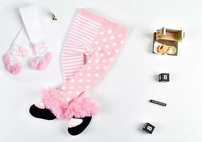 baby toddler infant girls lace cotton soft princess stocking pantyhose tights A8