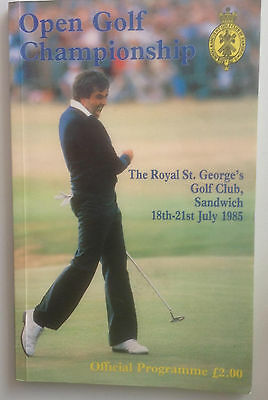 1985 Open Golf Championship Official Programme Royal St George's Seve on cover