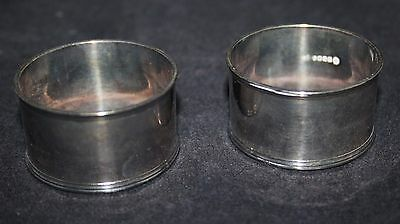 A Vintage Pair of EPNS Silver Plated Napkin Rings