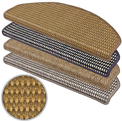 Sisal Stair Tread Mat Stair Cover Natural Staircase Campus diff Colour 28x65cm