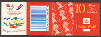 GB QEII BARCODE Stamp Booklet HD28 10 x 1st 1996 SG 1671 WALSALL
