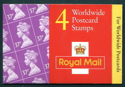 GB QEII BARCODE Stamp Booklet GL1 4 x 37p 1996 SG Y1779 WALSALL