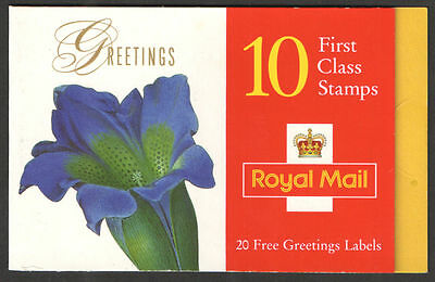 GB Barcode Stamp Booklet KX9 Greetings Flowers  10% OFF 5+