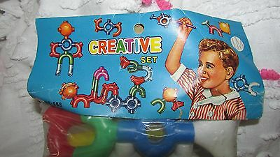 Vintage Midcentury Variety 5 And 10 Cent Store1960's Childs Building Toys Mip