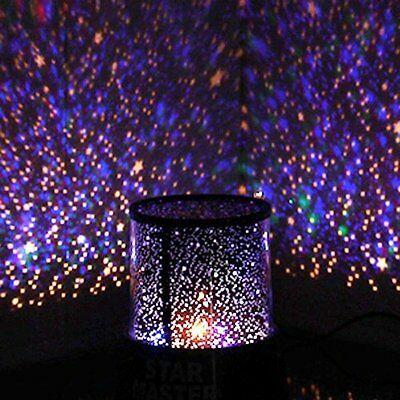 Master LED Star Night Light Projector Lamp,Colorful Starry Night Bed Side Lamp