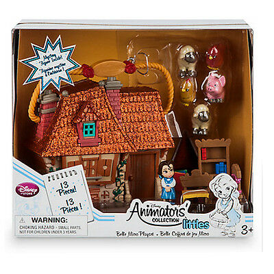New Official Disney Beauty & The Beast Belle Animators Collection Micro Playset