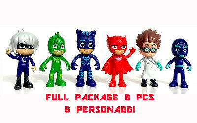 6 Personaggi pjmasks superpigiamini pj masks mask gioco toys super pigiamini