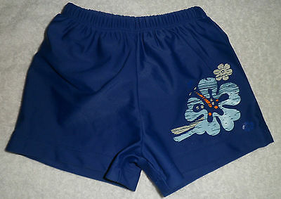 Baby Boys Blue Swim Shorts With Interlining By Bruin Age 3-6 Months In Ex Cond
