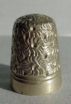 Thimble 925 Sterling SIlver FLORAL pattern hallmarked Newcastle