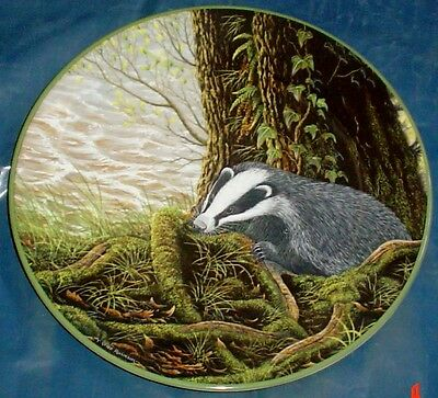 Royal Doulton 'THE BADGER ON HIS EVENING PROWL' Collectors Plate