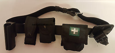 Ex Police Police PUS Belt with Pouches, Handcuff Holder, Baton Holder Kit (A216)