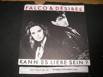 Single NDW Falco + Desiree - Kann es Liebe sein (2 Song) GIG REC Austropop