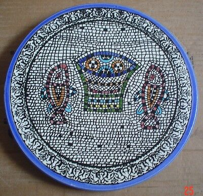 Greek? Spanish? Handmade Wall Or Collectors Plate