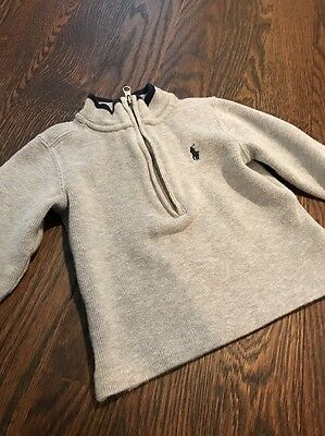 Polo Ralph Lauren Gray Half Zip Sweater Sweatshirt Shirt Top 18 Months