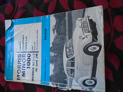 P Olyslager Motor Manual Morris Minor 1000 / Series 111 Jm  From 1956