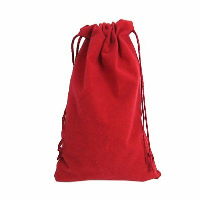 """20 Red Drawstring Gift Velvet Square Wedding Pouches Favour Jewelry Bags 6"""" x 9"""""""