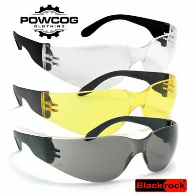 Blackrock Safety Specs Work Spectacles New Glasses EN166 Clear Smoke Yellow Lens