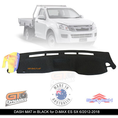 DASH MAT ISUZU D-MAX ES SX with COIN TRAY 06/2012-2017 DMAX BLACK DM1314