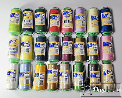 BIRCH - Polyester Overlocker / Overlocking Thread - 2500M - Select Your Colours