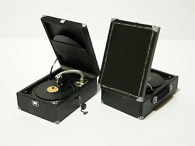 Dolls House Miniature Handmade 1930's Style Record Player 1:12 Scale