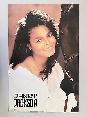 Janet Jackson,1990, Authentic 1991 Poster