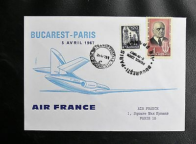 Vol Air France Bucarest / Paris - 5 Avril 1967 - Tbe