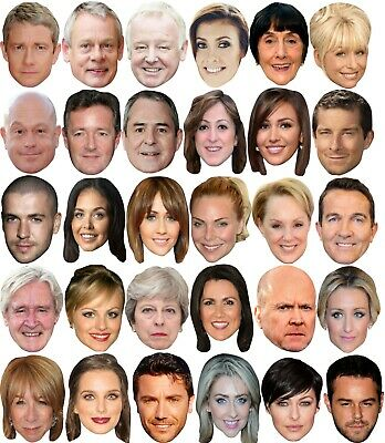 Batch #7 - Do It Yourself (Diy) Celebrity Face Masks - 30 To Choose - Low Price!