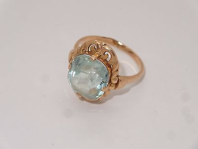 #(R21) Antique Vintage Gold Russian Soviet 583 14k Ring