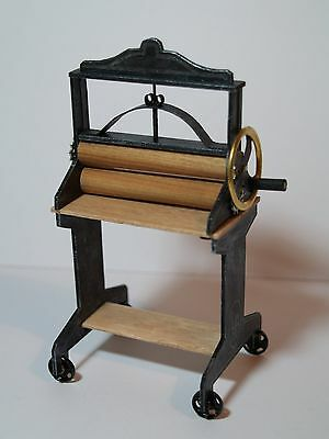 Dolls House Miniature Handmade Victorian Style Washing Mangle in 1:12 Scale