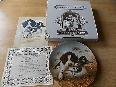 Dog Tired The Springer Spaniel Collector Plate Edwin M. Knowles 1987