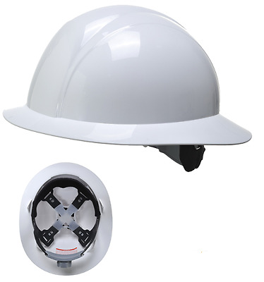 Portwest PS52 White Safety Lightweight Full Brim Future Helmet Head Protection