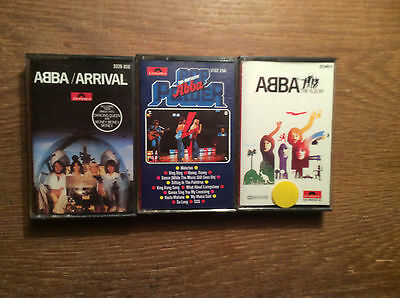 ABBA [3 MC] The Album +Pop Power + Arrival / POLYDOR RED LABEL