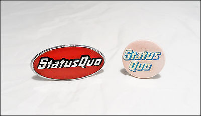 Status Quo 80's Button & Pin