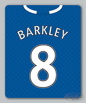 EVERTON themed MOUSEMAT - mouse mat pad PERSONALISED 16/17 football shirt style