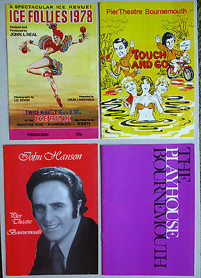 5 x Theatre Programmes-Bournemouth- Playhouse/Pier/Ice Rink 1978  Googie Withers