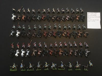 Seven Years War Painted 15mm Prussian Hussar Brigade - 55 mounted sold as is