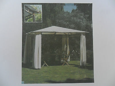 Stunning New Exclusive Canterbury Roble Hardwood Gazebo With Canopy & Side Panel
