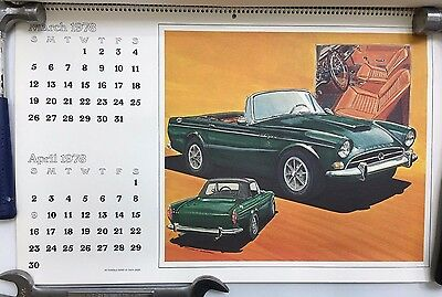 Vintage First Annual Shelby American Calendar for 1978  Illustrated