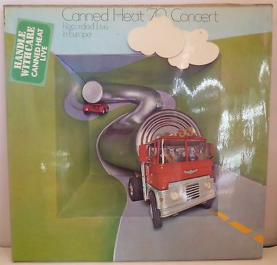 """Canned Heat '70 Concert Live in Europe 12"""" Vinyl LP Liberty Records LBS83333  EX"""