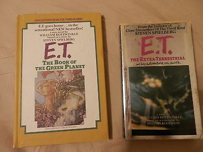 Lot Of 2 E.T. The Extraterrestrial Books Paperback And Hardcover