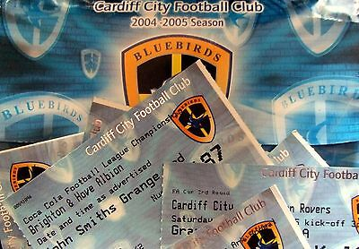 Cardiff City Home Tickets 2004/2005 Select From List