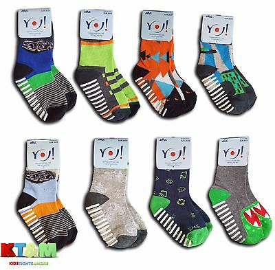 New Boys Kids Children ABS Anti Non Slip Half Terry Cotton Socks 3-5 Years