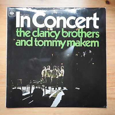 The Clancy Brothers & Tommy Makem In Concert LP vinyl (1967) VG+