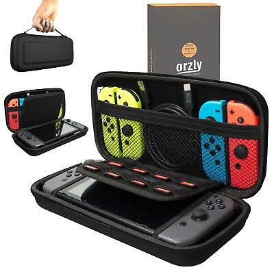 Orzly Protective Carry Case Cover Pouch for Nintendo Switch Console - Black