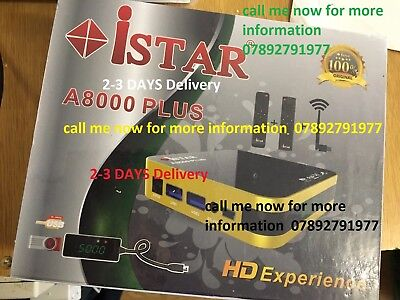 istar korea A8000 Plus  With 6 Months Free Online Tv 3000 Channels no need dish