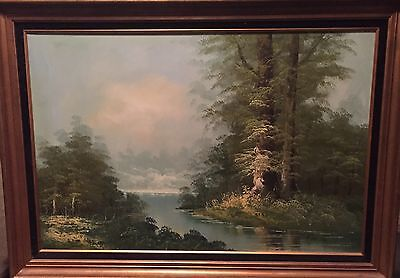 Mountain Scenery Painting By H. Bauer