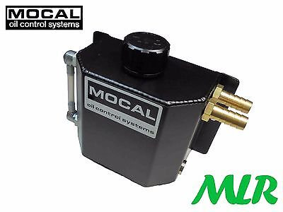 Mocal Ct3 1 Litre Black Alloy Catch Tank Breather Tank Left Or Right Inlets Bed